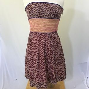 Free People Strapless Tie Back Boho Dress Size 4